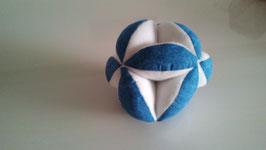 Pelota Montessori azul y blanca