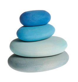 Piedras de rio azules (madera) Building set river pebbles