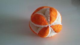 Pelota Montessori naranja y blanca
