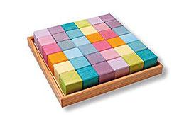 36 cubos pastel