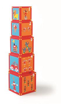 Torre de bloques circo