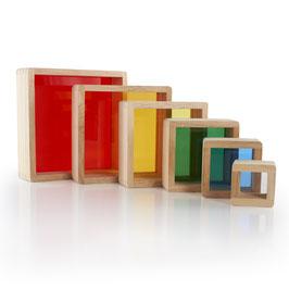bloques apilables pirámide arco iris Guidecraft