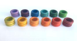 36 anillas 12 colores