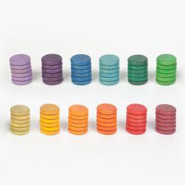 36 monedas en 12 colores (3 de cada color)