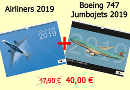 *** JANUARY SALE *** Airliners & Boeing 747 Jumbojets 2019 Wallcalendar DIN A3
