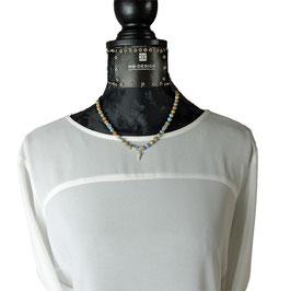 k-0048 Impression Jaspis, Aquamarine, Silber 925