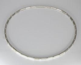 Elegante Bambuskette aus recyc. 925 Silber, mit 5mm Stärke und Bajonett-Verschluss