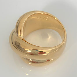 "Beautiful bestseller ring ""Little Kiss"" made of 925 sterling silver - in gold"
