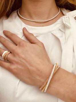 """Armband silber """"Diamant schmal"""" mit Magnetverschluss"""