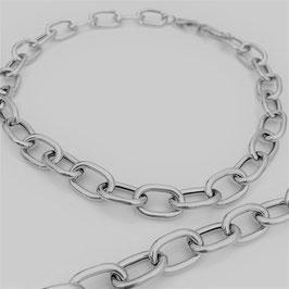 """Collier """"Polar Chain"""" mit Karabiner, handgefertigt aus 925 Silber"""