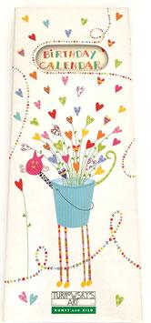Kalender hochkant mit Strauß aus Herzen