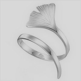 "Ring ""Ginkgo"" silver"