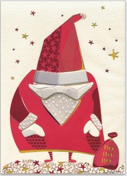 Weihnachts-mann mit tiefer Mütze