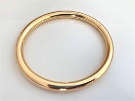 750 Gold Bracelet - Armreif mit Steckverschluss, 6 mm Durchmesser