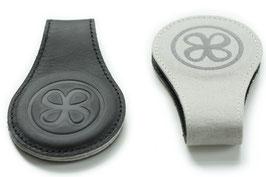 2 magnetische Leder-Clip schwarz