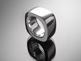 "Impressive unisex ring ""Square"" made of 925 sterling silver"