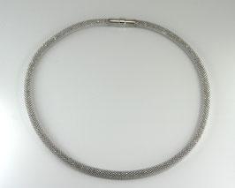 """Collier silber """"Diamant"""" 5 mm Breite mit Magnetverschluss, rhodiniert"""