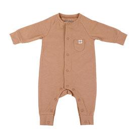 Süßer Baby-Strampler mit Sonnen-Schutz UPF50+ für Säuglinge und Babys in Kokosnuss-Braun