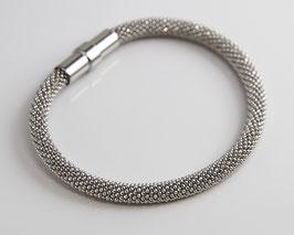 """Armband silber """"Diamant"""" 5 mm Breite mit Magnetverschluss, rhodiniert"""