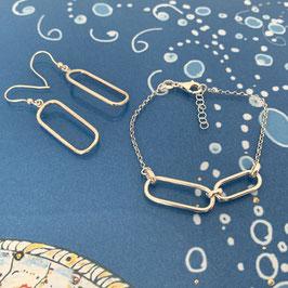 "Armband silber ""Arctic"" mit oval-eckigen Elementen"