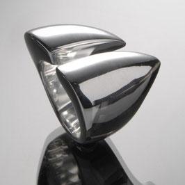 "Ring ""Sharp"" aus recyceltem 925 Silber - der optische Fingerstrecker"