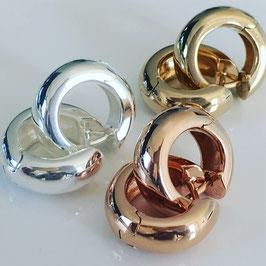 """Creolen 925 Silber """"Fano"""", 1,6 cm halbrund"""
