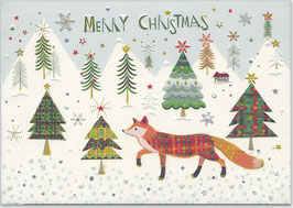 Merry Christmas Fuchs im Wald