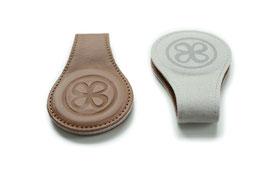 2 magnetische Leder-Clip braun