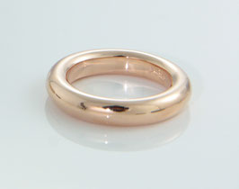 "Combine & Shine with our ring ring ""Circle"" made of recycled silver - rosegold plating"