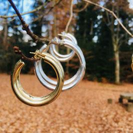 """Statement Creolen """"Paris"""" mit 6 cm Durchmesser / Statement hoops (2.4 inches) 'Paris'"""