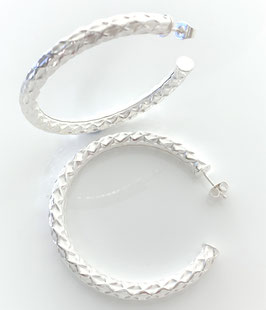 """5 cm hoop earrings, with magnificent pattern, large & light (2 inches) """"Cairo"""""""