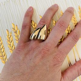 """Ring """"Sharp"""" aus recyceltem 925 Silber - der optische Fingerstrecker in 18ct Gelbgold plattiert"""