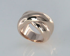 "Beautiful bestseller ring ""Little Kiss"" made of 925 sterling silver - in roségold"