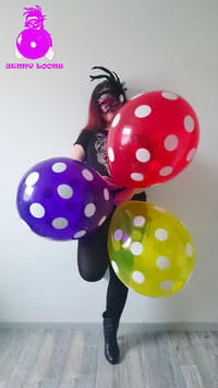 "QUALATEX 16"" Polka Dots (Crystal)"