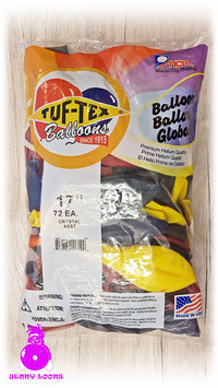 "TUF-TEX 17"" Packs (72 Balloons)"