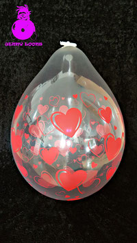 "QUALATEX 18"" Stuffer ""Hearts & Hearts"""