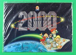 Kalender Abrafaxe   Mit den Abrafaxen durch die Zeit  von 2000  neuwertig & eingeschweißt