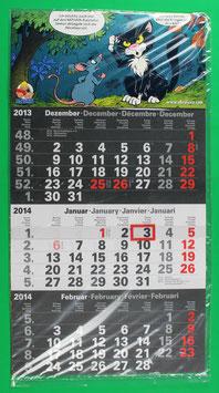 Dreimonatskalender Abrafaxe  von 2014 neuwertig & eingeschweißt