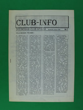 Fanzine Mosaik-Club Apolda Club-Info Nr. 7 1995 gut erhalten