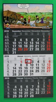 Dreimonatskalender Abrafaxe  von 2019 neuwertig & eingeschweißt