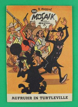 Original Mosaik der Digedags Nummer 180 Schwarzdruck