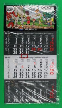 Dreimonatskalender Abrafaxe  von 2015 neuwertig & eingeschweißt