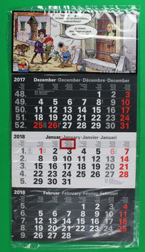 Dreimonatskalender Abrafaxe  von 2018 neuwertig & eingeschweißt