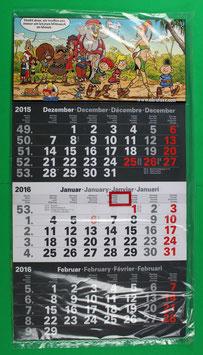 Dreimonatskalender Abrafaxe  von 2016 neuwertig & eingeschweißt