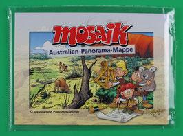 Mosaik Australien-Panorama mit zwei Autogrammen neuwertig und in Folie eingeschweißt