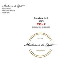 Gutschein Wert 399 €
