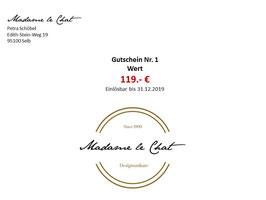 Gutschein Wert 119 €