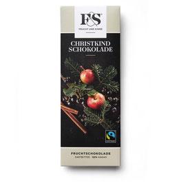 Frucht & Sinne Christkindschokolade Dunkle Apfel Ribisel Zimt 50 g
