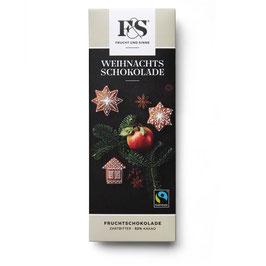 Frucht & Sinne Weihnachtsschokolade Dunkle Apfel Lebkuchen 50 g