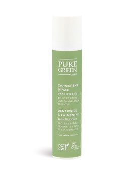Pure Green Med - Basic Care - Zahncreme Minze ohne Fluorid 50 ml